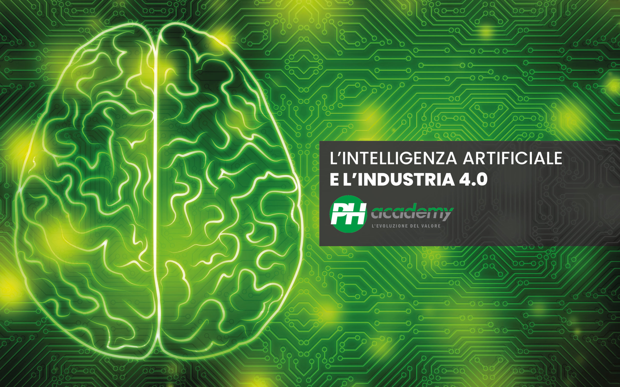 grafica verde intelligenza artificiale cervello